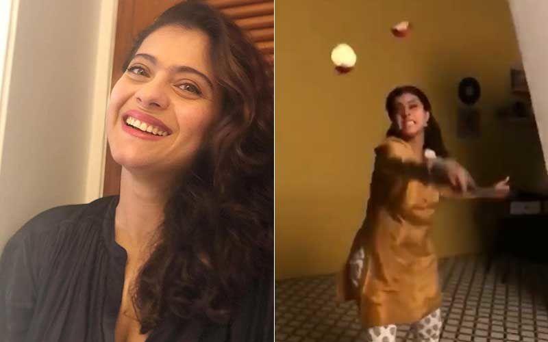 Kajol Shares A Glimpse Of Her 'Fruit Ninja' Mood While Slicing An Apple On Set; Netizens Slam Her For Wasting Food: 'Loge Ke Pass Khaane Ke Liye Nahi Hai'