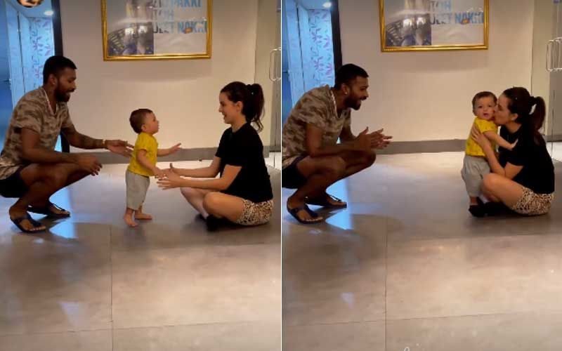 Hardik Pandya Cheers For Son Agastya As He Takes Baby Steps; Natasa Stankovic Showers Her Little One With Kisses-WATCH Video