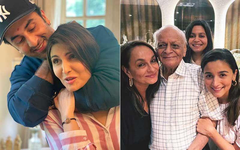 Ranbir Kapoor Photo Bombs Sister Riddhima Kapoor Sahni's Pic Selfie With Alia Bhatt's Grand Father; Actor's Peek-A-Boo Is Adorbs