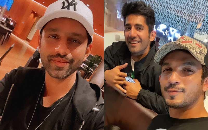 Khatron Ke Khiladi 11: Rahul Vaidya, Arjun Bijlani And Others Clicked At Mumbai Airport As They Return From Cape Town; Divya Agarwal Surprises Varun Sood With A Warm Welcome