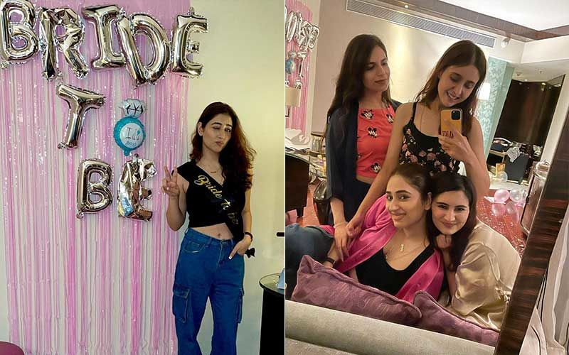 Disha Parmar's Bachelorette Bash: Bride-To-Be Shares Fun-Filled Pics With Her Girl-Friends; Rahul Vaidya Comments 'My Bride'