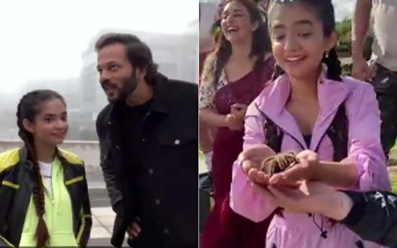 Khatron Ke Khiladi 11 Promo: Rohit Shetty Asks Anushka Sen 'Main Bakra Hoon?'; Actress Recreates An Iconic Devdas Song With A Giant Spider In Her Hand-WATCH