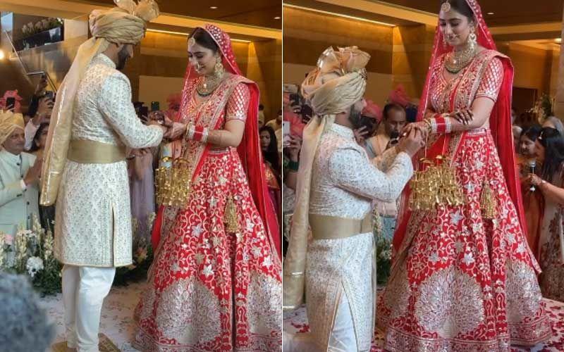 Rahul Vaidya-Disha Parmar Wedding: FIRST Glimpse Of The Couple From The Varmala Ritual; The Bride And Groom Look Beautiful
