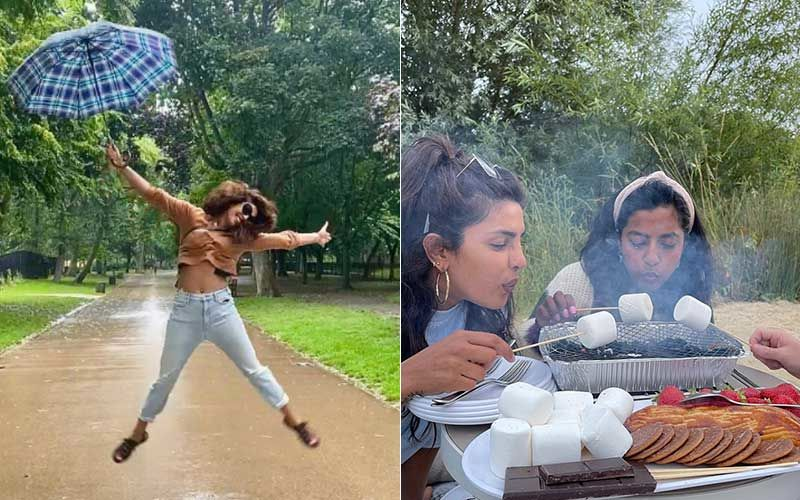Priyanka Chopra Jonas Dumps Photos From Last Few Days In London With Friends; Actress Enjoys Roasting Marshmallows, Kayaking And Rains