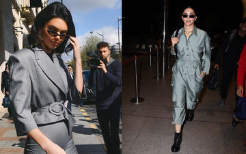 Deepika Padukone Flaunts An Outfit Similar To Kendall Jenner's As She Jets Off To Paris Fashion Week For Dior