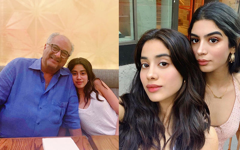 Janhvi Kapoor Reunites With Father Boney Kapoor And Khushi Kapoor In New York And Posts A Pretty Rainbow Picture