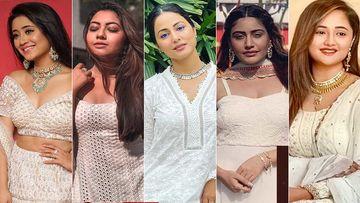Holi 2020: Pristine White Looks Inspired By Shivangi Joshi, Reem Shaikh, Hina Khan, Surbhi Chandna, Rashami Desai