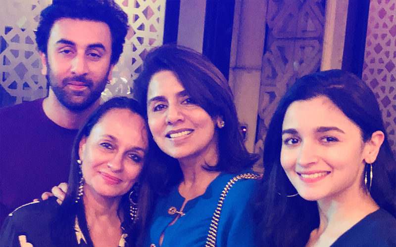 Ranbir Kapoor Brings In 36th Birthday With His Special Ladies - Alia Bhatt, Neetu Kapoor And Soni Razdan, View Pic
