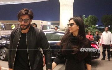 Deepika Padukone-Ranveer Singh Take Off For Their Honeymoon – View Pics