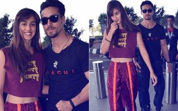 7 Pics Of Hotties Disha Patani & Tiger Shroff Bidding Goodbye To Mumbai In Style!