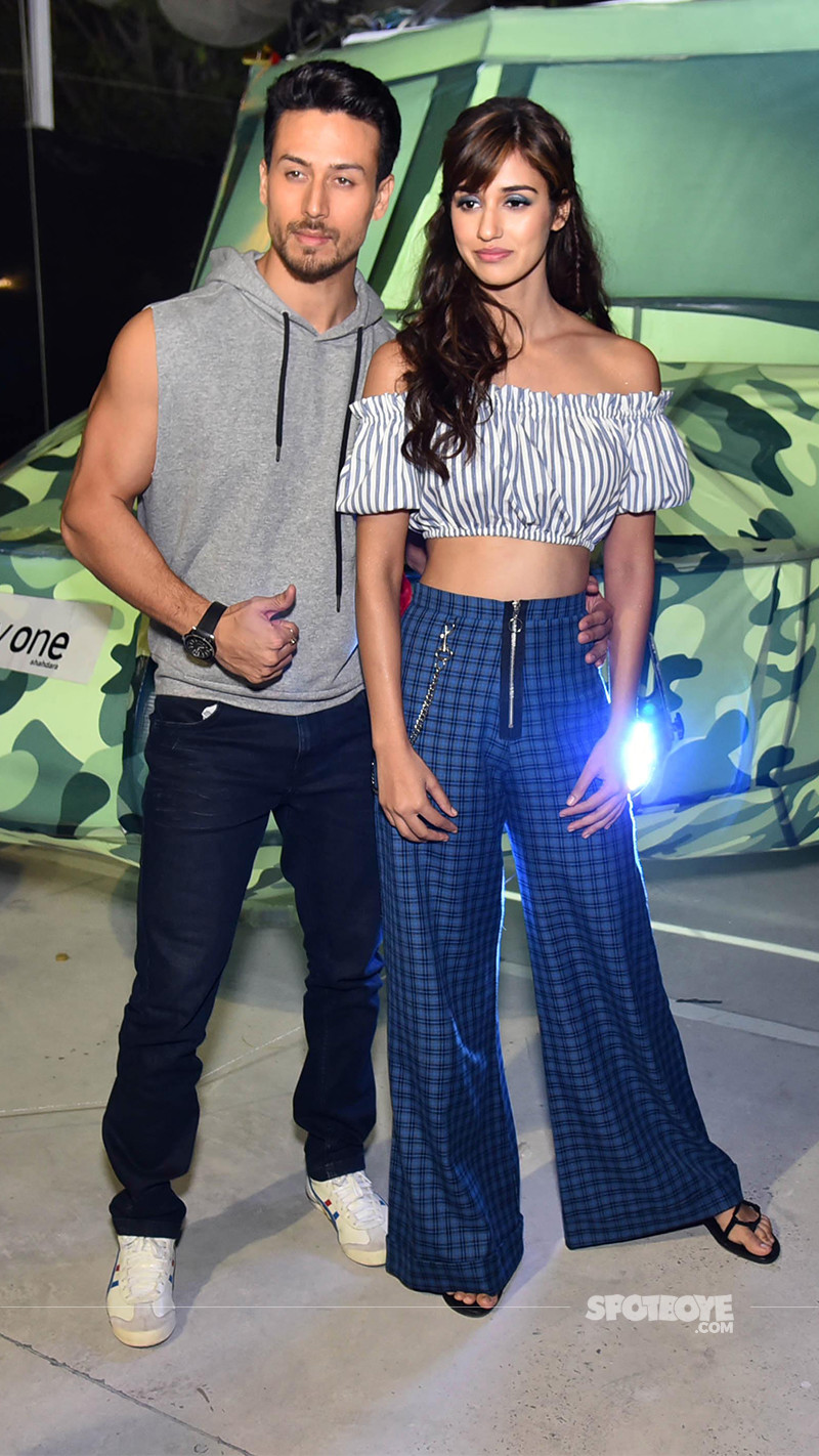 tiger shroff and disha patani snapped during baaghi 2 promotions