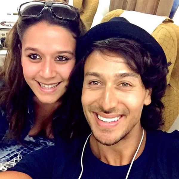 tiger shroff and krishna shroffs airplane selfie