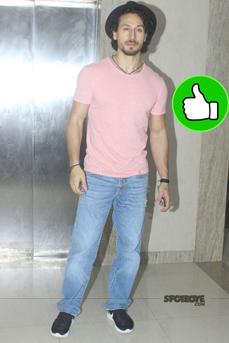 tiger shroff at munna michael special screening