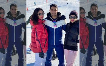 Kareena Kapoor Khan, Karisma Kapoor Strike A Pose With Varun Dhawan As They Bump Into Him On The Swiss Alps