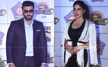 Umang 2020: Arjun Kapoor Looks Suave In Suit; Bhumi Pednekar Dazzles In Black-And-White