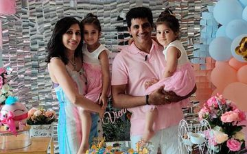 Karanvir Bohra And Preggers Teejay Sidhu Make Their Twin Daughters' Fourth Birthday Special At Home - PICS From Celebrations
