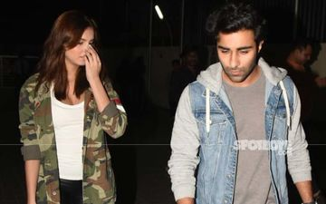 'Strictly Serious' Tara Sutaria And Boyfriend Aadar Jain Bear Glum Faces For Cameras