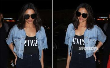 Deepika Padukone Puts Enviable Curves On Display; Looks Mint Fresh Exiting The Airport At 3AM
