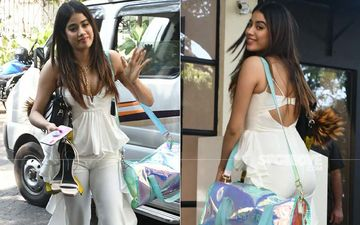 Janhvi Kapoor Chooses To Walk Barefoot Ditching Her Extravagant Heels; We Can Relate