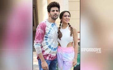 Same Pinch - Sara Ali Khan And Kartik Aaryan Sport Similar Tie-Dye Outfits For  Love Aaj Kal Promotions-PICS