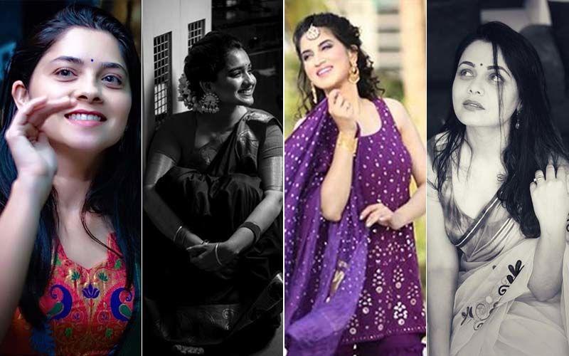 Marathi Actresses Hruta Durgule,  Smita Gondkar, Sonalee Kulkarni, Prarthana Behere Flaunt Their Traditional Marathi Beauty