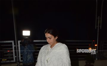 Sara Ali Khan's Movie Night: Simmba Actress Looks Ethereal In A White Suit