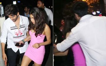 Kartik Aaryan Escorts Janhvi Kapoor To Her Car While Holding Her Hand Post His Birthday Bash- VIDEO