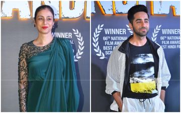 Ayushmann Khurrana, Tabu And Team Andhadhun Celebrate Their Successful Nod At National Awards; Radhika Apte Misses The Bash