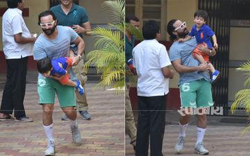 अपने पापा सैफ अली खान के साथ मस्ती करते हुए तैमूर अली खान की देखिए यह तस्वीरें