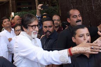 Birthday Boy Amitabh Bachchan Greets An Ocean Of Fans Gathered Outside His Residence