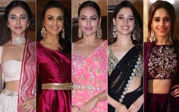 Diwali Party Wardrobe Tips By Rakul Preet Singh, Preity Zinta, Sonakshi Sinha, Tamannaah Bhatia, Nushrat Bharucha