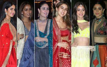 BEST DRESSED & WORST DRESSED At Amitabh Bachchan's Diwali Bash: Katrina Kaif, Mira Rajput, Kareena Kapoor Khan, Sara Ali Khan, Ananya Panday Or Anushka Sharma?