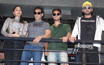 Salman Khan Along With Aayush Sharma And Saiee Manjrekar Arrive For The Launch Of His New Fitness Equipment Range