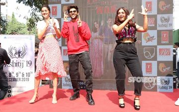 Pati Patni Aur Woh Promotions: Ananya Panday, Kartik Aaryan And Bhumi Pednekar Make A Colourful Appearance