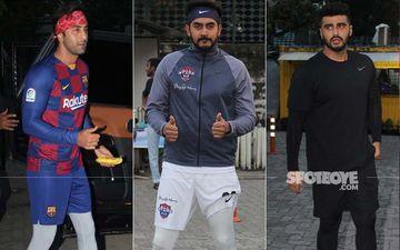 B-Town's Soccer Boys Ranbir Kapoor And Arjun Kapoor Rock The Football Field During The Sunday Match