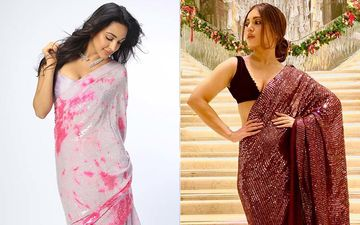 Kiara Advani In A Pink Tie Dye Sequin Saree Or Bhumi Pednekar In Shimmery Brown Saree- Who's Your Pick?