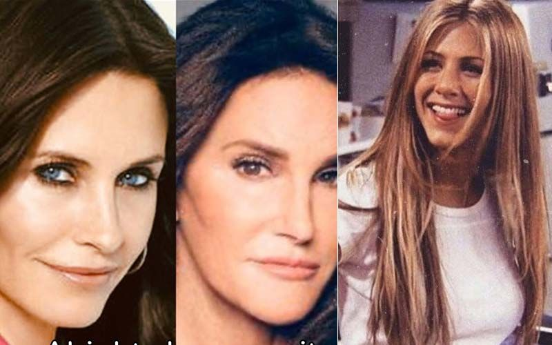 Courteney Cox Agrees To Having A Striking Resemblance To Caitlyn Jenner; Jennifer Aniston Can't Stop Laughing