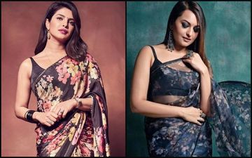 Priyanka Chopra Jonas Vs Sonakshi Sinha- Who Rocked The Black Floral Saree Better?