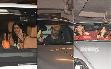 Hrithik Roshan, Katrina Kaif, Farhan Akhtar-Shibani Dandekar Arrive At Ritesh Sidhwani Bash