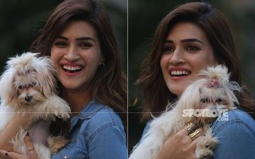Kriti Sanon Shoots With Pooches; We Can't Decide Who Looks Cuter