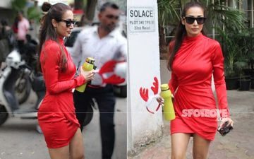 Malaika Arora Dives Into The Christmas Fever, She's The Sexy Santa In A Red Body-Hugging Dress - PICS