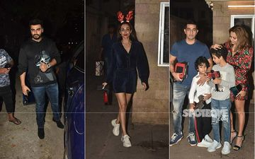 Arjun Kapoor Accompanies GF Malaika Arora At Her Mom's Christmas Party, Amrita Arora And Her Family Join In