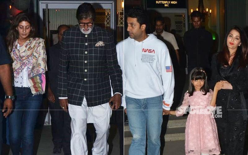 Aishwarya, Aaradhya, Big B, Shweta Nanda Celebrate Abhishek Bachchan's Birthday- View Pics