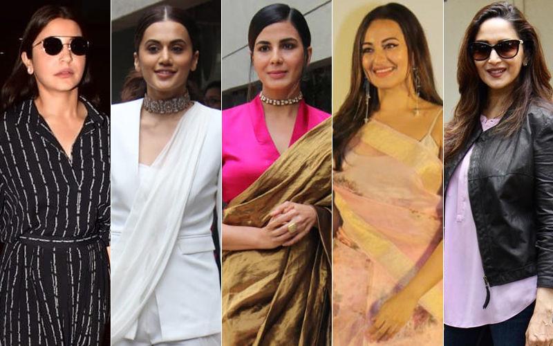 STUNNER OR BUMMER: Anushka Sharma, Taapsee Pannu, Kirti Kulhari, Sonakshi Sinha Or Madhuri Dixit?