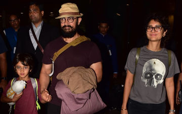 Airport Diaries: Aamir Khan, Kiran Rao And Their Little Man Azad Are Back From London Vacation