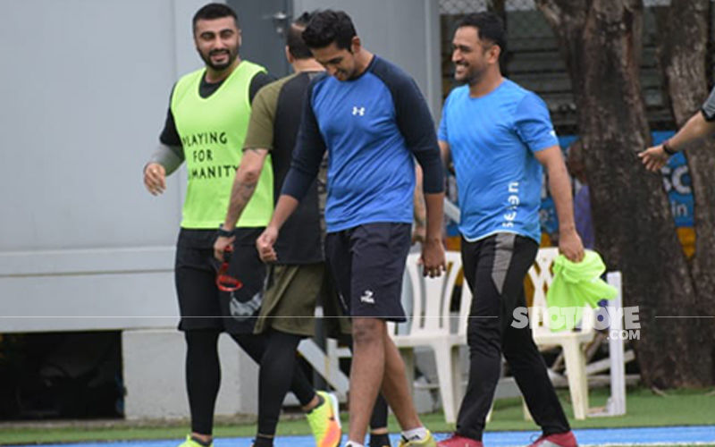 Bend It Like MS Dhoni: Cricketer Spotted Playing Football With Arjun Kapoor