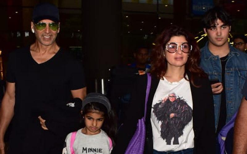 Akshay Kumar, Twinkle Khanna And Their Kids, Nitara And Aarav, Return To Mumbai From London