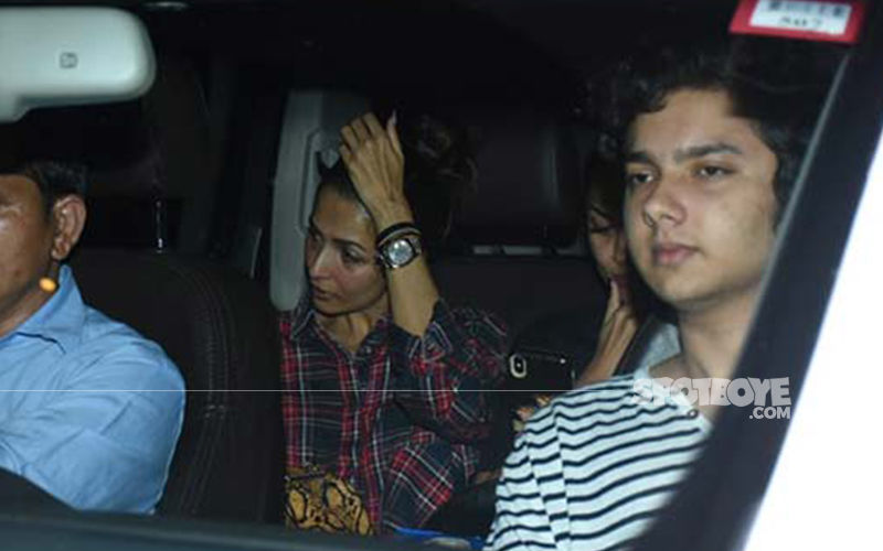 Malaika Arora Spotted Leaving Arbaaz Khan's Brother, Sohail's Residence With His Son Nirvaan