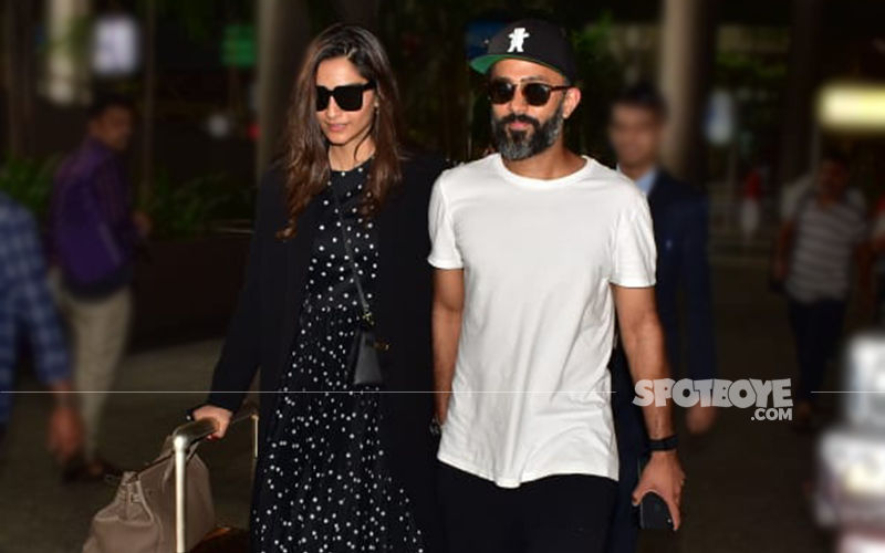 Sonam Kapoor And Anand Ahuja Walk Out Of The Mumbai Airport Holding Hands And It Is Just Too Adorable!