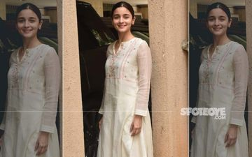Alia Bhatt Goes Ethnic As She Gets Snapped Outside Sanjay Leela Bhansali's Office